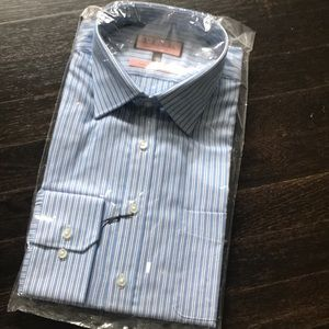 NWT Thomas Pink Slim Fit Traveller dress shirt
